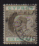 Cyprus Stamps SG 067 1904 Six Piastres - USED (d963)