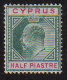 Cyprus Stamps SG 062 1904 Half Piastre - MH (d956)