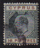 Cyprus Stamps SG 070 1904 18 Piastres - USED (d964)