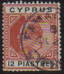 Cyprus Stamps SG 057 1903 12 Piastres - USED (d968)