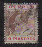 Cyprus Stamps SG 068 1904 9 Piastres - USED (d967)