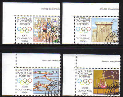 Cyprus Stamps SG 635-38 1984 Los Angeles Olympic Games - CTO USED (c277)