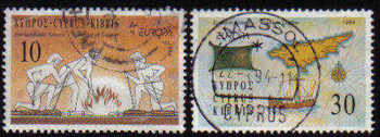 Cyprus Stamps SG 847-48 1994 Europa - USED (c862)
