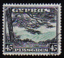 Cyprus Stamps SG 143 1934 KGV Definitives 45 Piastres - USED (d549)