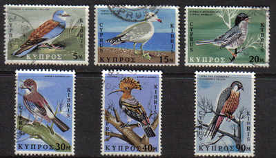 Cyprus Stamps SG 334-39 1969 Birds of Cyprus - USED (d664)