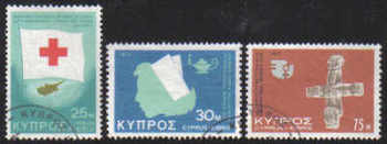 Cyprus Stamps SG 446-48 1975 Anniversaries and Events - USED (d253)