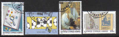 Cyprus Stamps SG 641-44 1984 Anniversaries and Events - USED (d197)