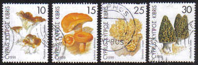 Cyprus Stamps SG 965-68 1999 Mushrooms - USED (d986)