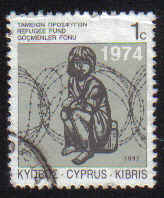 Cyprus Stamps 1992 Refugee Fund Tax SG 807 - USED (e053)