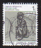 Cyprus Stamps 2003 Refugee Fund Tax SG 807 - USED (e088)