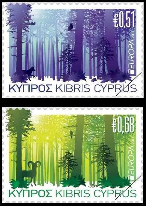 Cyprus 2011 Europa - Forests 2 stamp set