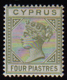 Cyprus Stamps SG 035a 1892 Four piastre - Used (e132)
