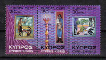 Cyprus Stamps SG 443-45 1975 Europa paintings - MINT