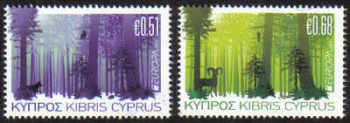 Cyprus Stamps SG 1246-47 2011 Europa Forests - MINT