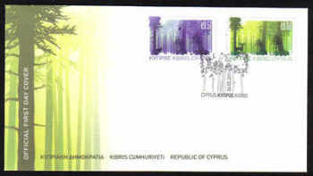 Cyprus Stamps SG 1246-47 2011 Europa Forests - Official FDC