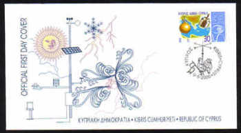 Cyprus Stamps SG 0999 2000 Meteorological Organization - Official FDC