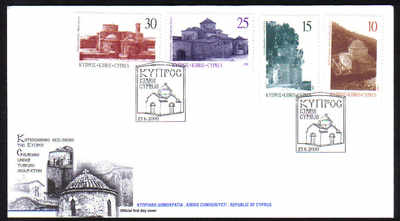 Cyprus Stamps SG 1000-03 2000 Greek Orthodox Churches - Official FDC
