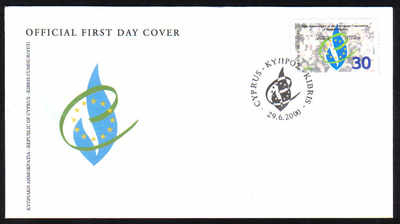 Cyprus Stamps SG 1004 2000 Human rights - Official FDC