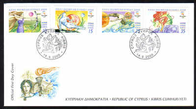 Cyprus Stamps SG 1005-08 2000 Sydney Olympic Games - Official FDC