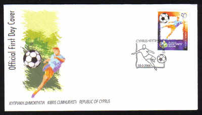 Cyprus Stamps SG 1108 2006 Football World Cup Germany - Official FDC