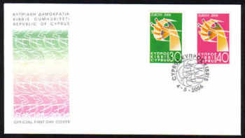 Cyprus Stamps SG 1110-11 2006 Europa Integration - Official FDC