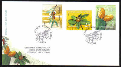 Cyprus Stamps SG 1112-14 2006 Fruits - Official FDC