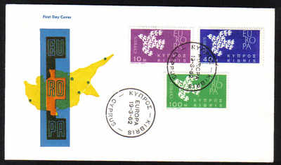 Cyprus Stamps SG 206-08 1962 Europa Doves - Unofficial FDC (e147)