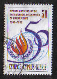 Cyprus Stamps SG 959 1998 Human Rights - USED (a869)