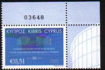 Cyprus Stamps SG 1206 2009 50th Anniversary of the European Court of Human Rights - MINT (c828)