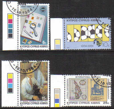 Cyprus Stamps SG 641-44 1984 Anniversaries and Events - USED (d186)