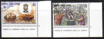Cyprus Stamps SG 586-87 1982 Europa Historic events - USED (d278)