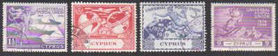 Cyprus Stamps SG 168-71 1949 KGVI Universal Postal Union - USED (d372)