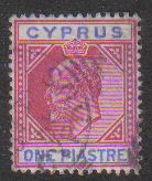 Cyprus Stamps SG 064 1904 One Piastre - USED (d085)