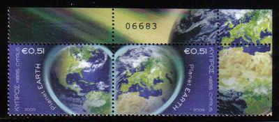 Cyprus Stamps SG 1186-87 2009 Planet Earth Control numbers - MINT (d546)
