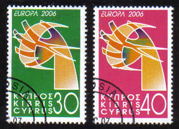 Cyprus Stamps SG 1110-11 2006 Europa - CTO USED (e193)
