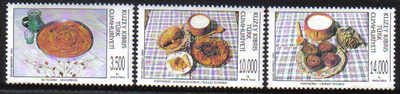 North Cyprus Stamps SG 396-98 1995 Turkish Cypriot Food - MINT
