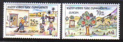 North Cyprus Stamps SG 443-44 1997 Europa Tales and Legends - MINT