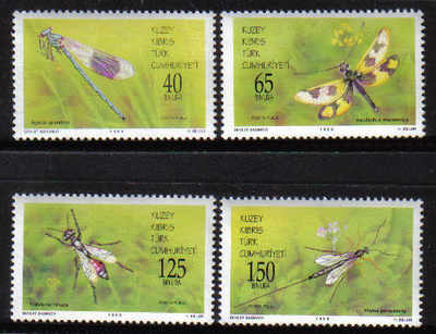 North Cyprus Stamps SG 461-64 1998 Useful Insects - MINT