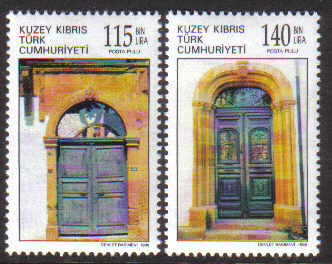 North Cyprus Stamps SG 465-66 1998 Old doors - MINT