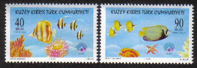 North Cyprus Stamps SG 469-70 1998 Year of the Ocean - MINT