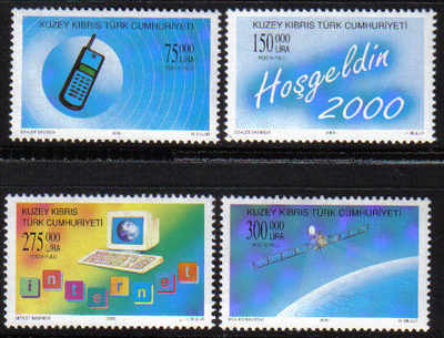 North Cyprus Stamps SG 0503-06 2000 New Millennium Technology - MINT