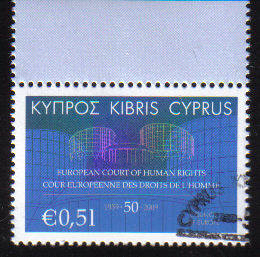 Cyprus Stamps SG 1206 2009 European Courts of Human Rights - USED (c745)