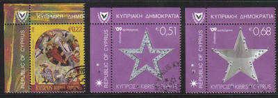 Cyprus Stamps SG 1207-09 2009 Christmas - USED (c753)