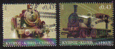 Cyprus Stamps SG 1222-23 2010 The Cyprus Railway - CTO USED (c818)