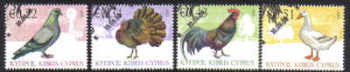 Cyprus Stamps SG 1194-97 2009 Domestic Fowl of Cyprus - USED (d874)