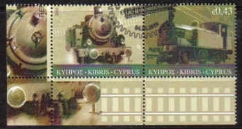 Cyprus Stamps SG 1222-23 2010 The Cyprus Railway version 1 - CTO USED (d159)