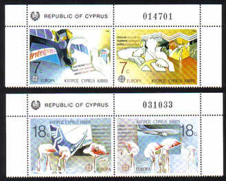 Cyprus Stamps SG 718-21 1988 Europa Transport - MINT (e202)