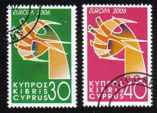 Cyprus Stamps SG 1110-11 2006 Europa - CTO USED (e194)