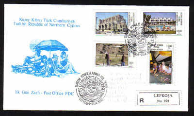 North Cyprus Stamps SG 330-33 1992 Tourism - Official FDC (b147)