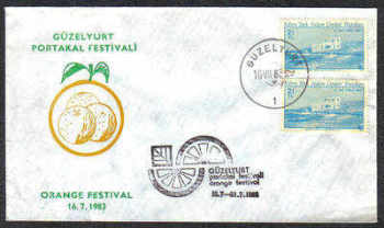 North Cyprus Stamps 1983 Orange festival Slogan Cachet - Unofficial Cover (c207)